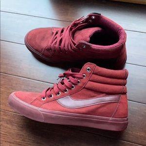Maroon high top sneakers